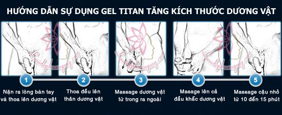 cách sử dụng gel titan tăng kích thước dương vật tối đa